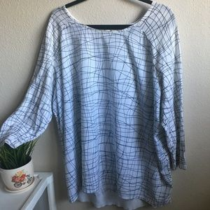 SEJOUR ABSTRACT BLACK AND WHITE KNIT TOP 14